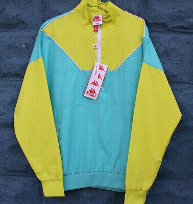 Vintage Kappa Windbreaker Pullover Jacket Neon Highlighter L/S Men's Size Large
