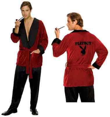 Hugh Hefner Playboy Smoking Jacket Bachelor Fancy Dress Halloween Adult - Bachelor Smoking Jacket