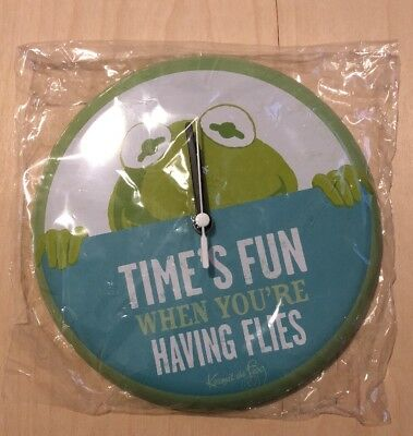 Hallmark Muppets Kermit the Frog Time's Flies Clock Brand NEW!