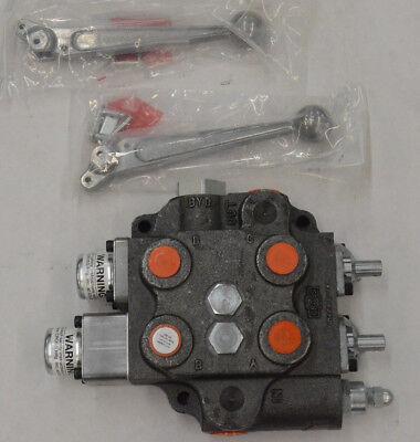 Double Spool Hydraulic Valve Cross Wfloat Open Center Kubota Sbaf2