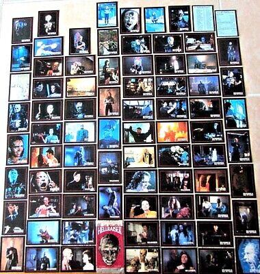 RARE SET OF VINTAGE 1992 HELLRAISER MOVIES TRADING CARD WRAPPER 78 DIFF SINGLES