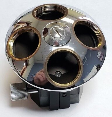 Leitz Ortholux 4 Position Objective Holder Turret Nosepiece Microscope Part
