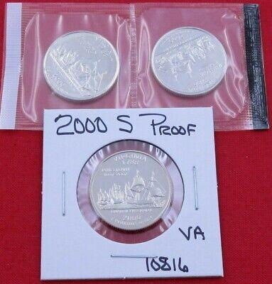 2000-P Uncirculated Virginia Statehood Quarter Single