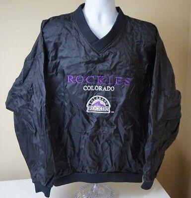Vintage Colorado Rockies MLB Pro Player Pullover Windbreaker Jacket Size - Colorado Rockies Mlb Player