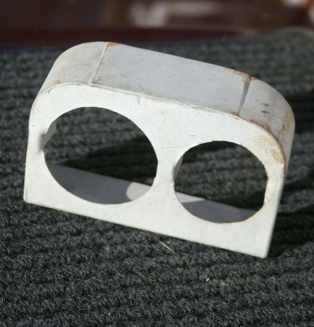 "Vintage 2 Gauge Custom Panel Holder (1) 2 5/8"", (1)  2 1/16"""