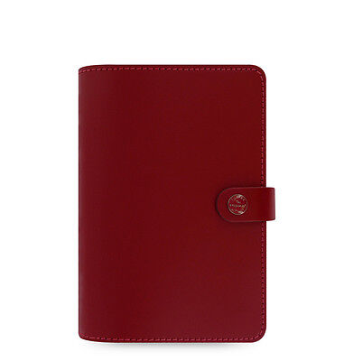Filofax Personal Size Original Organiser Diary Book Pillarbox Red Leather Chic