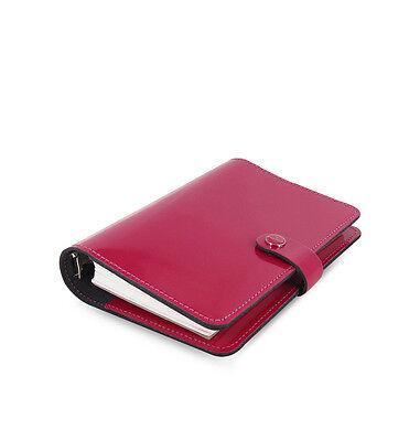 1 Filofax Personal Size Original Organiser Diary Book Fuchsia Red Leather 022432