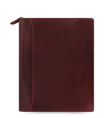 Filofax A5 Size Lockwood Zip Organiser Diary Garnet Red Leather-021691 Gift New