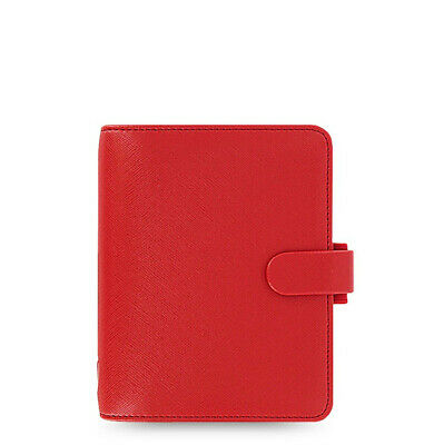 New Filofax Pocket Size Saffiano Organiser Planner Diary Book Poppy Red 022471