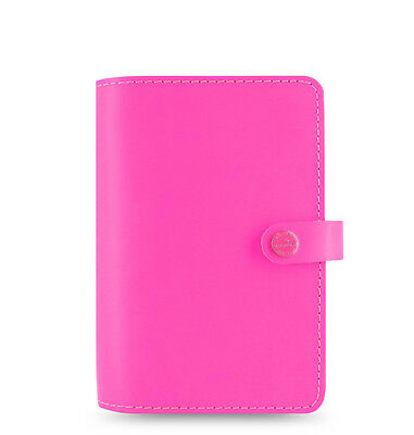 Filofax Personal Size Original Organiser Diary Fluoro Pink Leather - 022431 Gift