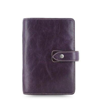 Filofax Personal Size Malden Organiser Planner Diary Book Purple Leather 025850