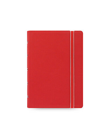 Filofax Pocket Refillable Leather-look Ruled Notebook Diary Red - 115002 Gift