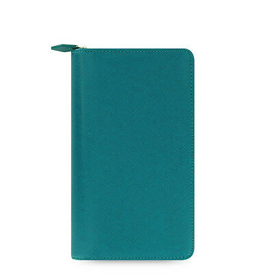 Filofax Saffiano Compact Zip Organiser Planner Diary Aquamarine Blue 022536 Chic