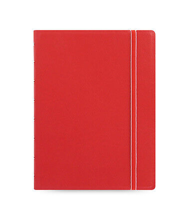 Filofax A5 Refillable Leather-look Ruled Notebook Diary Red - 115008 Gift