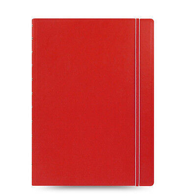 1 Red Filofax A4 Size Refillable Leather-look Ruled Notebook Noted Diary Student