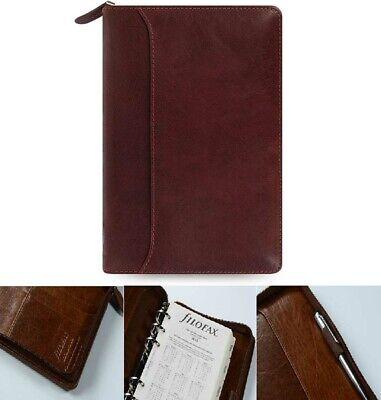 Filofax Personal Size Lockwood Zip Organiser Diary Garnet Red Leather 021687 J2