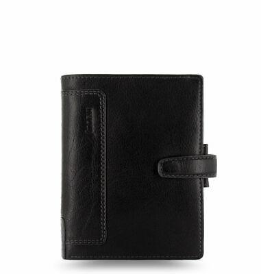 Filofax Pocket Size Holborn Organiser Planner Diary Leather Black - 025115