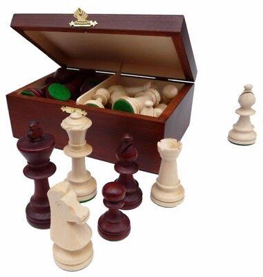Artus Staunton Schachfiguren Holz Königshöhe 95 mm