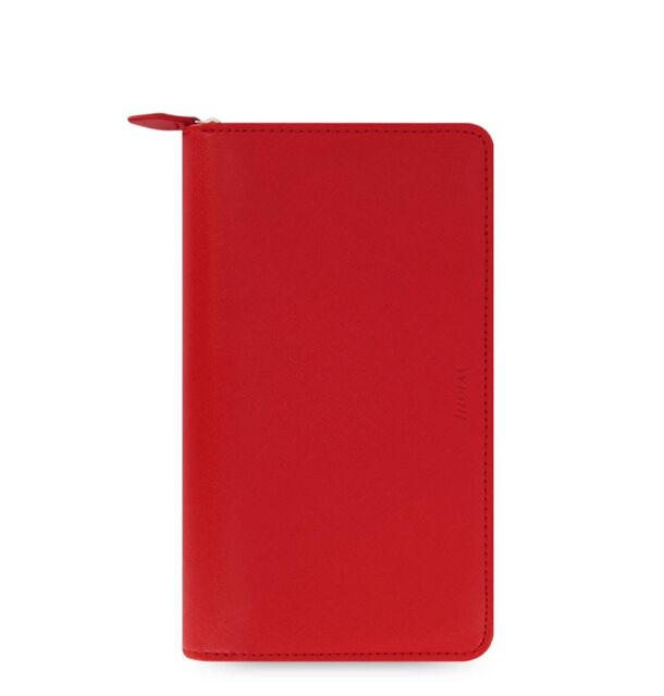 Filofax Saffiano Compact Zip Organiser Planner Diary Poppy Red - 022534
