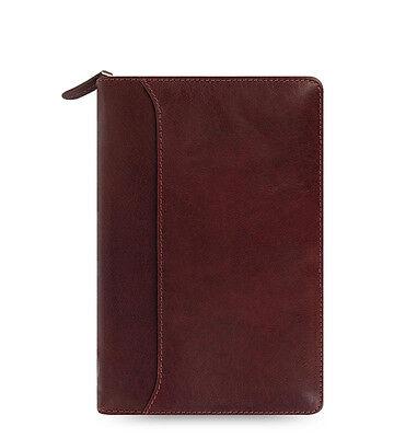 Filofax Personal Size Lockwood Zip Organiser Diary Garnet Red Leather 021687 C3