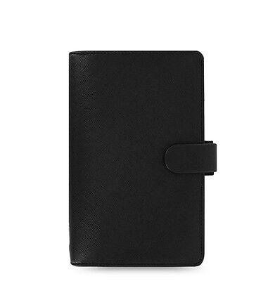 Filofax Compact Size Saffiano Organiser Planner Diary Book Black Leather 022469