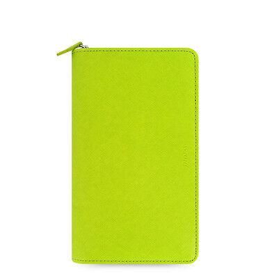Green Filofax Saffiano Compact Zip Organiser Planner Diary Pear Leather -022537