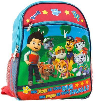 "Backpack Paw Patrol Kids Toddler Boy Girl Gift 12"" Travel Adjustable Toys NEW"