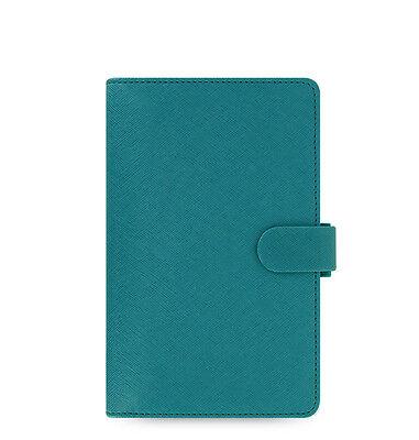 Filofax Compact Saffiano Organiser Planner Diary Book Aquamarine Blue 022528