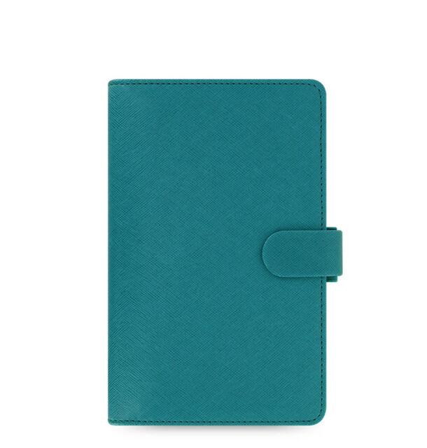New Filofax Compact Size Saffiano Organiser Planner Diary Book Aquamarine 022528