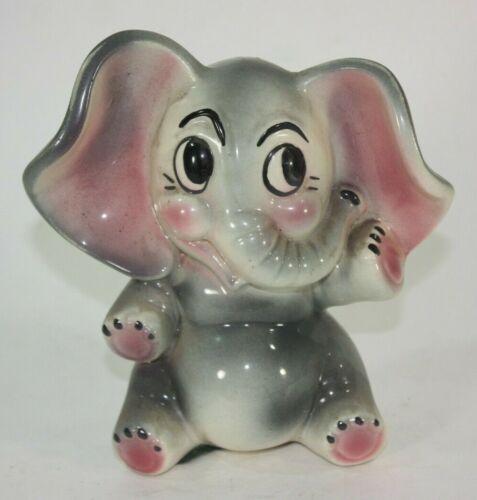 Elephant Piggy Bank Vintage Ceramic