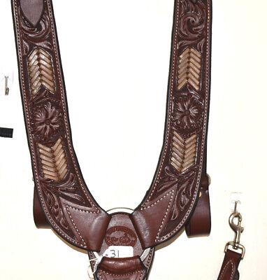 Unoiled Floral Tooled Pulling Collar
