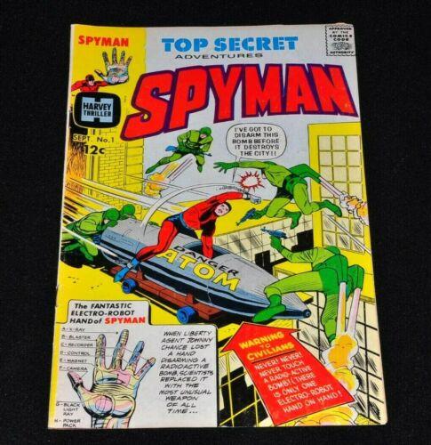 Spyman 1 Harvey Comics 1966 Jim Steranko Solid Copy!
