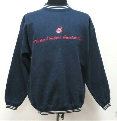Vtg 90s Gear Cleveland Indians Crewneck Sweatshirt sz M Medium SEWN NL MLB