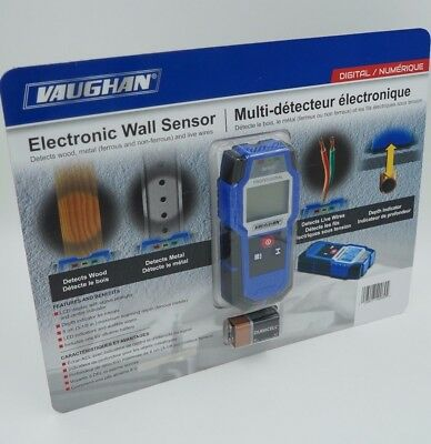 Vaughan Digital Electronic Wall Sensor Scanner Stud Finder Wood Metal Pipes Wire