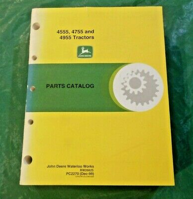 John Deere 4555 4755 4955 Tractors Parts Catalog Pc2270