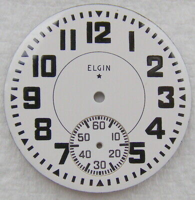 16S Elgin Bold Arabic Boxcar Numbers Railroad Pocket Watch Dial Only