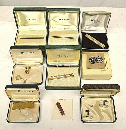 Lot of Assorted Vintage Cuff Links & Tie Clasps