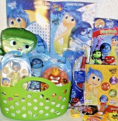 NEW Disney Pixar INSIDE OUT EASTER TOY GIFT BASKET BIRTHDAY PLAY SET FIGURE SET