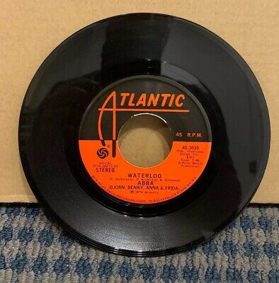 "1974 ABBA 45 RPM 7"" Single (ATLANTIC Records) ""WATERLOO"" (A36)"