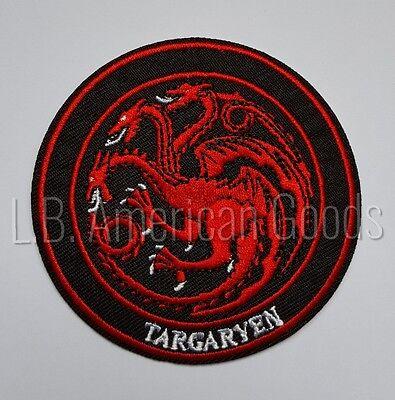 Game of Thrones TARGARYEN House Wappen Logo Aufnäher Patch *BLITZVERSAND & NEU*