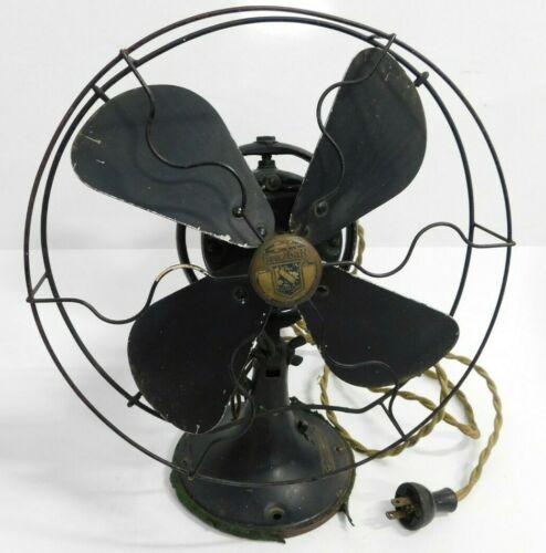 "Vintage Graybar Electric CAT. 42X548G 10"" Inch Oscillating Desktop Fan Works"