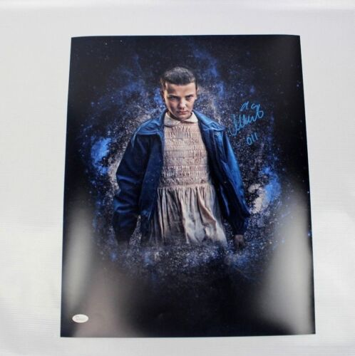 Millie Bobby Brown SIGNED STRANGER THINGS Eleven 16x20 Photo JSA AUTOGRAPH Z1