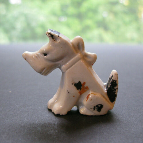 Small Vintage Fox Terrier Ceramic Dog Figurine JAPAN
