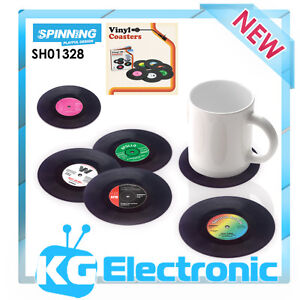 Spinning Hat SH01328 Set of 6 Drinks Retro Vinyl Coasters - Novelty Gifts