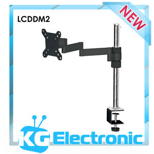 LCD LED TV & PC MONITOR Desk top Mount Bracket 1 Dual ARM 17