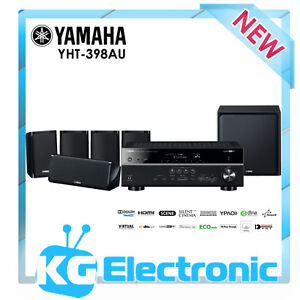 Yamaha-YHT-398AU-5-1-Home-Theatre-Package-AirPlay-AV-receiver-6-Speakers-YHT398