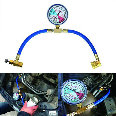 R134a Car Conditioning Refrigerant Recharge Measuring Hose Kit Charging Adapter