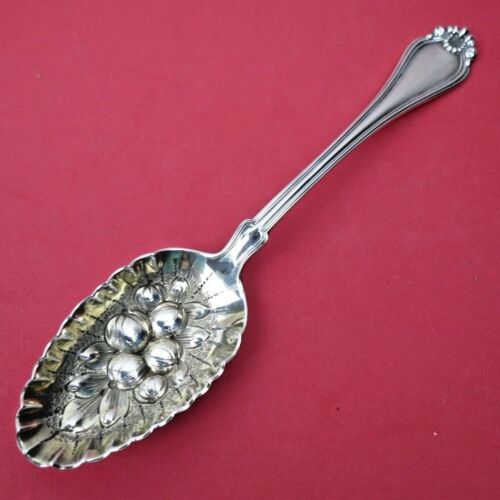 """STERLING Dominick & Haff Serving Spoon 1900 CENTURY Repousse Crimped Bowl 8 3/8"""""""