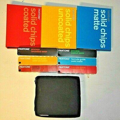 Pantone - 6 Color Process Formula Guides In Carrying Case Plus 3 Chip Books
