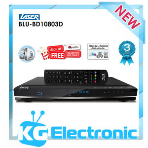 Laser BLU-BD10803D 3D DVD Blu-Ray Player BD Live - Multi Region free